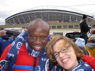 Sara and Julius outside Qwest Field