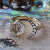 """""""A Vous/To You"""" Moon and Stars Chalcedony Ring, by Seal & Scribe 1"""