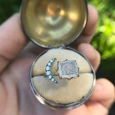 Faithful Chalcedony Moon ring by Seal and Scribe