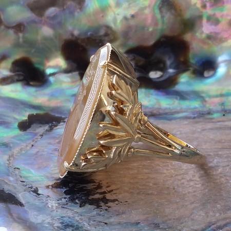 "Honey Agate ""Pegasus"" Ring, by Seal & Scribe"