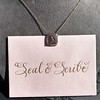'Joys I Double, Sorrows I Divide' 18kt Rose Gold Cast Pendant, by Seal & Scribe 19