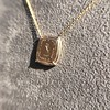 'Joys I Double, Sorrows I Divide' 18kt Rose Gold Cast Pendant, by Seal & Scribe 16