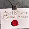 'Joys I Double, Sorrows I Divide' 18kt Rose Gold Cast Pendant, by Seal & Scribe 20