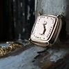 'Joys I Double, Sorrows I Divide' 18kt Rose Gold Cast Pendant, by Seal & Scribe 2