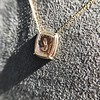 'Joys I Double, Sorrows I Divide' 18kt Rose Gold Cast Pendant, by Seal & Scribe 12