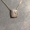 'Joys I Double, Sorrows I Divide' 18kt Rose Gold Cast Pendant, by Seal & Scribe 15