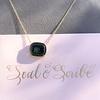 'Qui Me Neglige Me Perd' Dark Green Glass Pendant, by Seal & Scribe 24