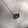 'Qui Me Neglige Me Perd' Dark Green Glass Pendant, by Seal & Scribe 30