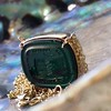 'Qui Me Neglige Me Perd' Dark Green Glass Pendant, by Seal & Scribe 9