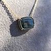 'Qui Me Neglige Me Perd' Dark Green Glass Pendant, by Seal & Scribe 15