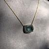 'Qui Me Neglige Me Perd' Dark Green Glass Pendant, by Seal & Scribe 31