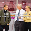 Father Tony (BC), Jerry York (BC - Head Coach), John Hagerty (BC) - The Boston College Eagles defeated the University of Massachusetts Minutemen 4-2 on October 14, 2011, at Kelly Rink in Chestnut Hill, Massachusetts.