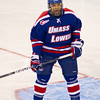 Malcolm Lyles (UML - 2) - The Boston College Eagles defeated the Umass-Lowell RiverHawks 4-2 on October 28, 2011, at Tsongas Arena in Lowell, Massachusetts.