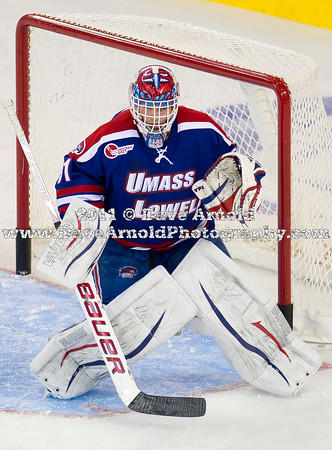 Doug Carr (UML - 31) - The Boston College Eagles defeated the Umass-Lowell RiverHawks 4-2 on October 28, 2011, at Tsongas Arena in Lowell, Massachusetts.