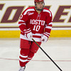 Corey Trivino (BU - 10) - The  Boston University Terriers defeated the Boston College Eagles 5-0 on November 13, 2011, at Kelly Rink in Chestnut Hill, Massachusetts.