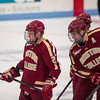 Bill Arnold (BC - 24), Patrick Wey (BC - 6) - The Boston College Eagles defeated the University of Maine Black Bears 3-2 in on November 2, 2012, at the Alfond Arena in Bangor, Maine.