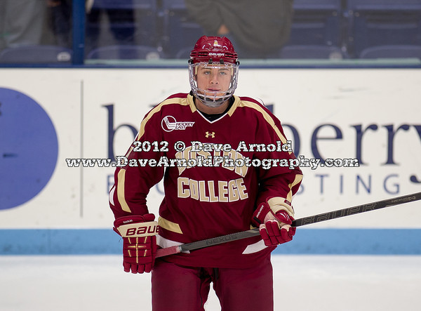 Teddy Doherty (BC - 4) - The Boston College Eagles defeated the University of Maine Black Bears 3-2 in on November 2, 2012, at the Alfond Arena in Bangor, Maine.