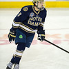 Robbie Russo (ND - 5) - The Boston College Eagles defeated the University of Notre Dame 4-2 on November 9, 2012, at Kelly Rink in Chestnut Hill, Massachusetts.