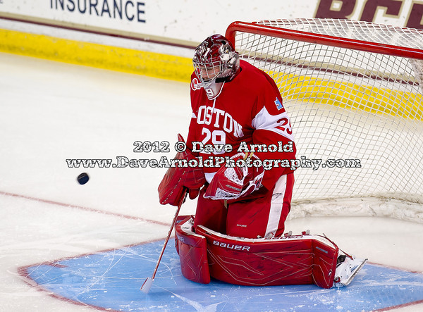 Matt O'Connor (BU - 29) - The Boston College Eagles defeated the Boston University Terriers 5-2 on December 1, 2012, and Jerry York (BC - Head Coach) matched Ron Mason's all-time record of 924 victories at Kelly Rink in Chestnut Hill, Massachusetts.