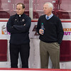 Father Tony (BC), Jerry York (BC - Head Coach) - The Boston College Eagles defeated the Boston University Terriers 5-2 on December 1, 2012, and Jerry York (BC - Head Coach) matched Ron Mason's all-time record of 924 victories at Kelly Rink in Chestnut Hill, Massachusetts.