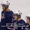 John Gaudreau (USA - 13) - The Russian National Junior Team defeated the 2012 U.S. National Junior Team 6-3 in a preliminary game on December 20, 2011, at the ENMAX Centrium in Red Deer, Alberta, Canada.