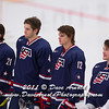Derek Forbort (USA - 4), Kevin Gravel (USA - 12), John Gibson (USA - 35) - The  2012 U.S. National Junior Team defeated the Switzerland National Junior Team  7-3 in a preliminary game December 22, 2011, at the Edgeworth Centre in Comrose, Alberta, Canada.