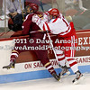 Matt Nieto (BU - 17), Isaac MacLeod (BC - 7) - The visiting Boston College Eagles defeated the Boston University Terriers 5-1 on December 3rd, 2011, at Agganis Arena in Boston Massachusetts.