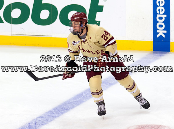Bill Arnold (BC - 24) - The Boston College Eagles defeated the Northeastern University Huskies 6-3 in the finals of the 61st Annual Beanpot Tournament on February 11, 2013, at TD Banknorth Garden in Boston, MA.