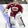 - The Boston College Eagles defeated the Harvard University Crimson 4-1 in the opening round of round 61st Beanpot  on February 4, 2013, at TD Bank North Garden in Boston, Massachusetts.