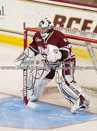 Steve Mastalerz (UMass - 39) - The Boston College Eagles defeated the University of Massachusetts Minutemen 3-2 on March 10, 2012, in the second game of the 2012 Hockey East Quarterfinals at Kelly Rink in Chestnut Hill, Massachusetts.