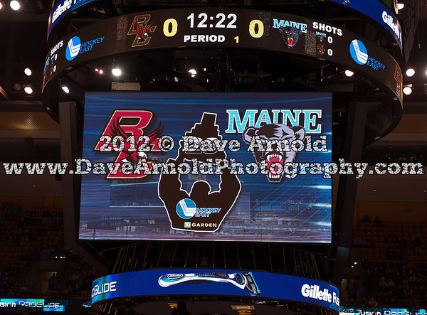 BC vs Maine   - The Boston College Eagles defeated the University of Maine Black Bears 4-1 to win the 2012 Hockey East Championship on March 17, 2012, at the TD Bank North Garden in Boston Massachusetts.