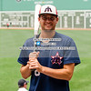 Max Burt (6) of the Harwich Mariners of the Cape Cod Baseball League on July 7, 2016, at Fenway Park in Boston, Massachusetts.