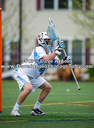 Tufts University Mens Lacrosse defeated Stevens 14-9 on May 11, 2013, in the second round of the NCAA D3 Lacrosse Tournament at Tufts University in Medford, Massachusetts.