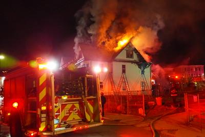 Three-alarm fire on Stonehurst Street in Boston, MA on March 5, 2020. Video here: https://youtu.be/0jqe7x_pGLc