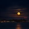 Moonrise over Santa Cruz, CA