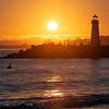 Sunset Over Walton Lighthouse, Santa Cruz, California