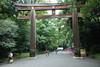 Meiji Shrine - Torii at Entrance