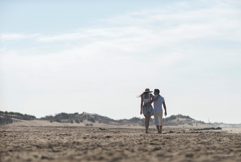 Photos de couple sur la page de l'Espiguette