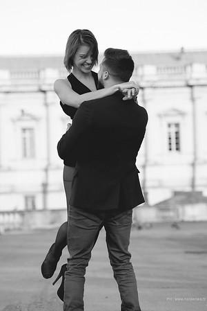Photos de couple en ville à Montpellier