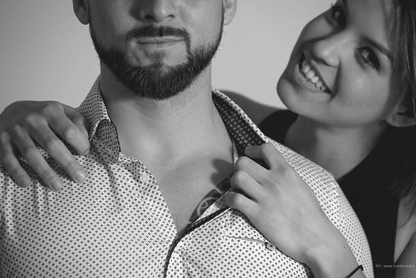 Séance photo de couple Montpellier en studio