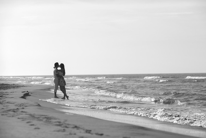 Séance photos couple plage Montpellier  | Love story montpellier