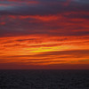 Sunset afterglow on the Pacific