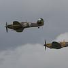 1944 Supermarine Spitfires LF.IXc & 1944 Hawker Hurricane IIc