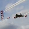 Avro Vulcan B2 & The Red Arrows - BAe Hawk T1/T1A (Royal Air Force Aerobatic Team)
