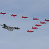 Avro Vulcan B2 & The Red Arrows - BAe Hawk T1/T1As (Royal Air Force Aerobatic Team)