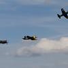 1948 Grumman F8F 2P Bearcat  / 1945 Chance Vought F4U-4 Corsair / 1945 Goodyear FG-1D Corsair