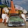 Showgirls Outside the Stardust Casino - 1951 Cadillac Series 62 Sadan