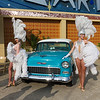 Showgirls Outside the Stardust Casino - Chevrolet Bel Air