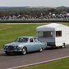 1966 Jaguar 420 Towing a Knowsley Juno Caravan