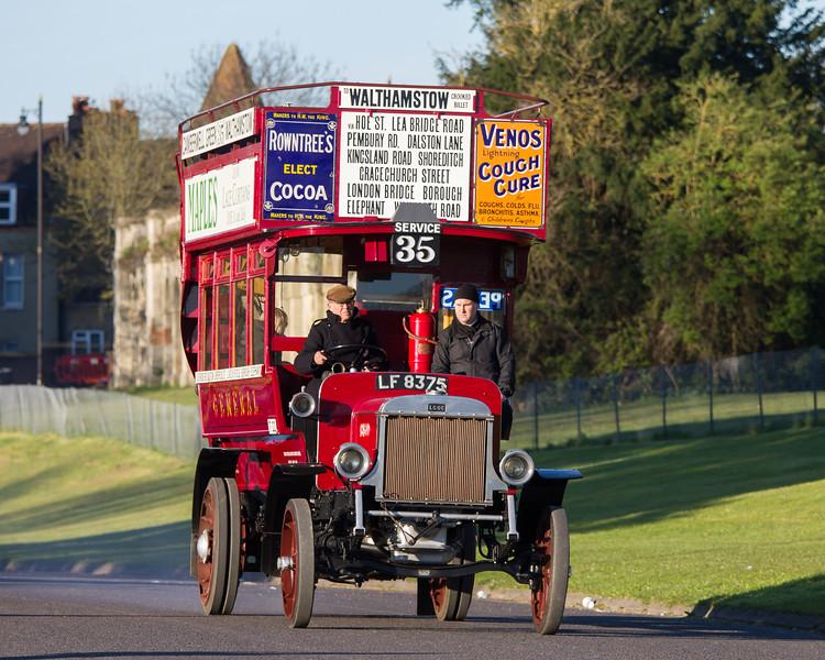 1911 LGOC B Type Double Deck Bus
